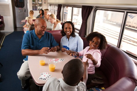 Image: Family travel on Amtrak