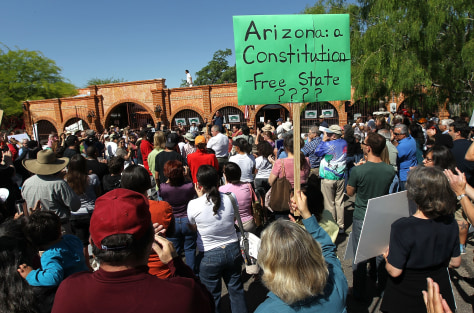 Image: Protest in Tuscon, Ariz.
