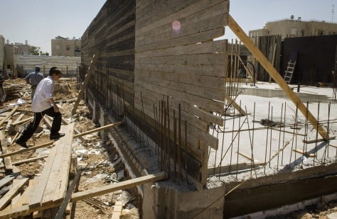 Image: Construction site in east Jerusalem
