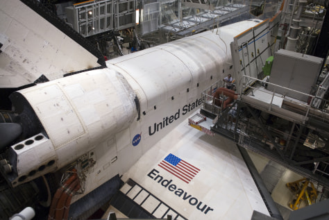 Image: Endeavour at Orbiter Processing Facility