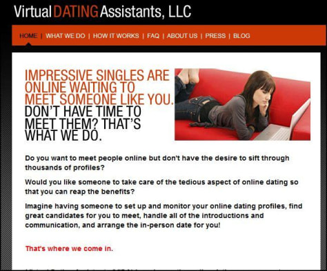 Image: Screenshot from Virtual Dating Assistants site