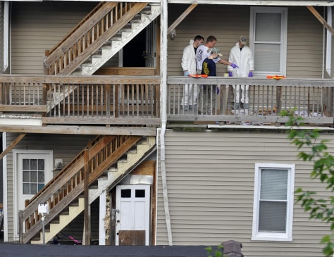 Image: Home where suspect lived in Bridgeport, Conn.