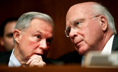 Image: Jeff Sessions, Patrick Leahy