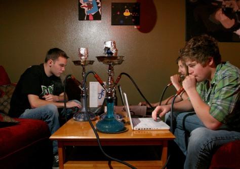Image: Hookah smokers