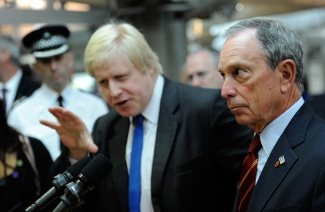 Image: London Mayor Johnson with New York Mayor Bloomberg