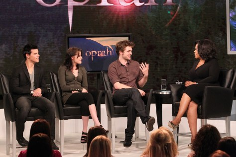 "Image: ""Twilight"" stars with Oprah"
