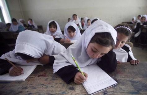 Image: Afghan school girls