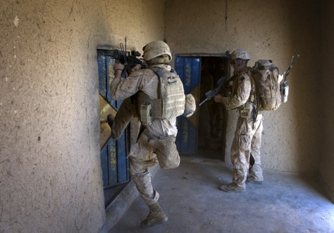 Image: U.S. Marines conducting house-to-house searches