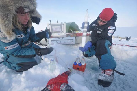 Image: Expedition members at North Pole