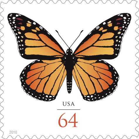 Image: Butterfly stamp