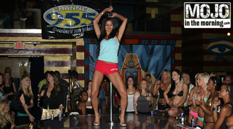 "Image: Miss USA, Rima Fakih at Mojo In The Morning's ""Stripper 101"" in 2007."