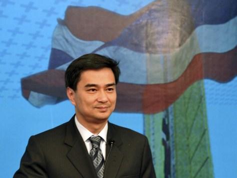 Image: Thailand's Prime Minister Abhisit Vejjajiva