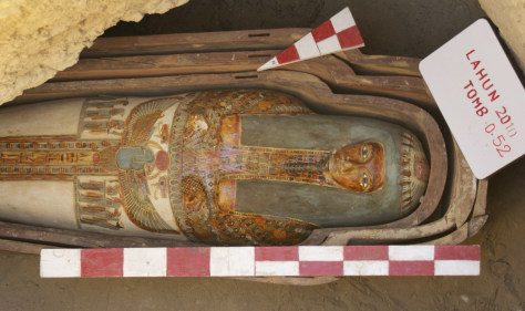 Image: Painted wooden sarcophagus