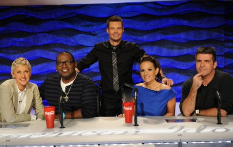 "Image: ""Idol"" judges and Ryan Seacrest"