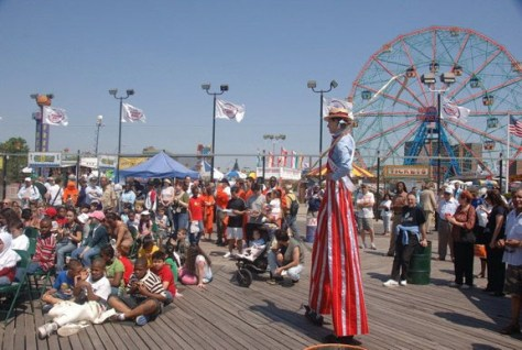 Image: Coney Island boardwalk in Brooklyn, N.Y.