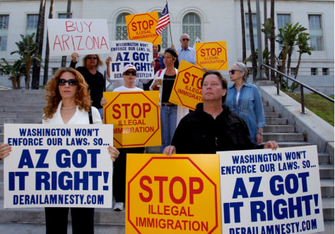 Image: Members of Los Angeles Tea Party