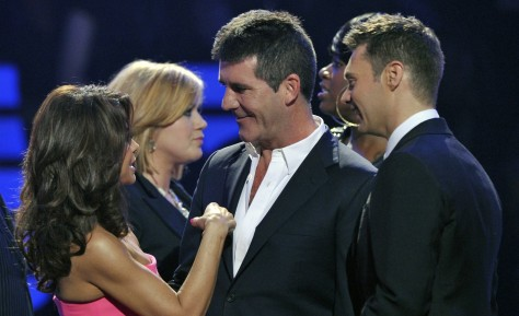 "Image: Paula Abdul, Simon Cowell on ""Idol"" finale"