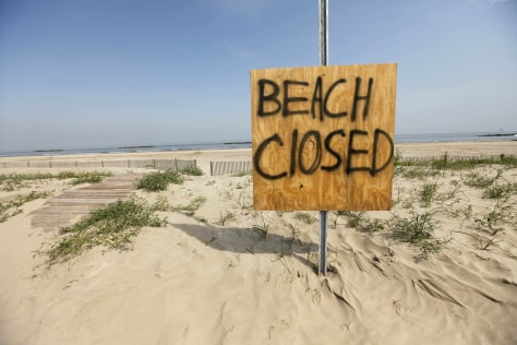 Image: Closed beach in Louisiana
