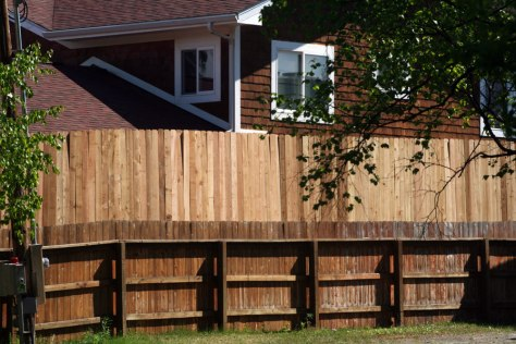 Image: Fence at Palin's Wasilla home