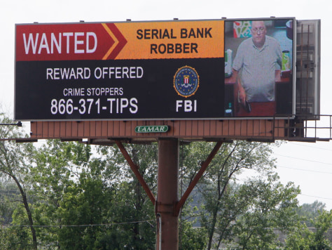 Image: Bank robbery suspect