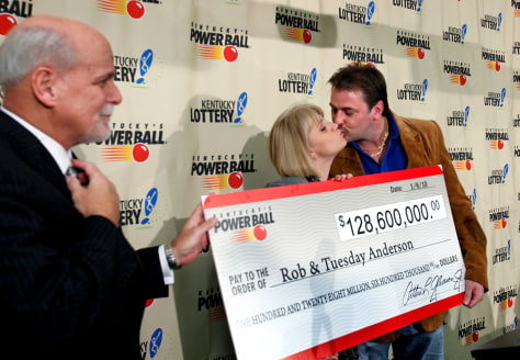 Image: Rob and Tuesday Anderson, Powerball winners