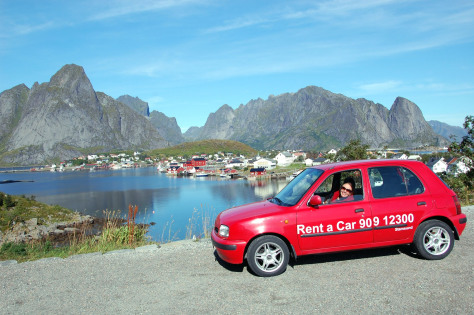 Image: Rental car in Norway