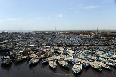 Image: Fishing boats in Karachi