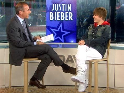 Image: Justin Bieber, Matt Lauer