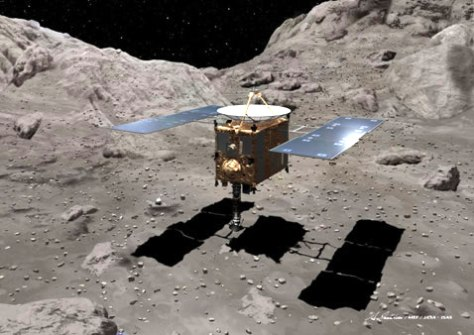 Image: Japan's Hayabusa landing on the asteroid Itokawa