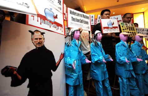 Image: Foxconn protesters
