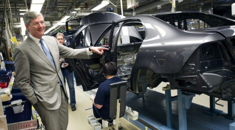 Image: Spyker CEO Victor Muller visits Saab's factory in Trollhattan