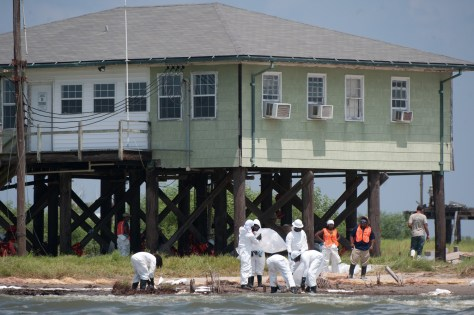 Image: Oil cleanup near Grand Isle, Louisiana