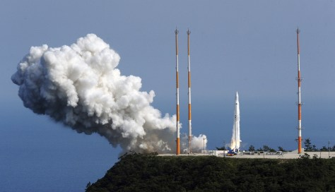 Image: A South Korean Space Launch Vehicle takes off from the launch pad at the Naro Space Center in Goheung, South Korea