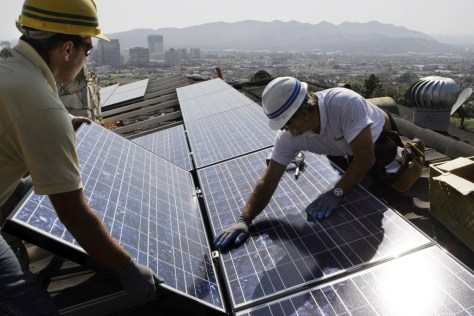 Image: Solar panel installation