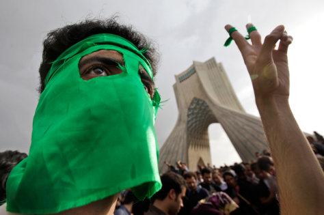Image: Iranian demonstrator
