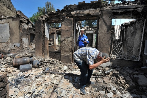 Image: Burned out home in Osh, Kyrgyzstan