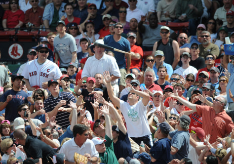 Image: Flying bats at Fenway