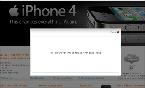 Image: AT&T iPhone pre-order screenshot