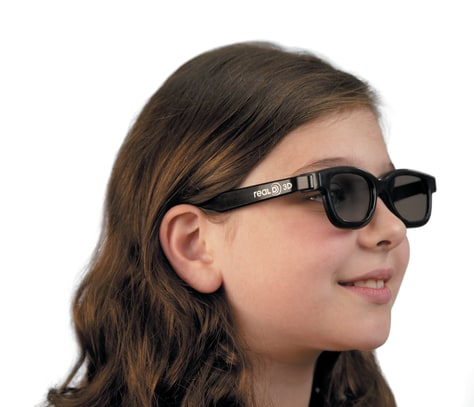 Image: Girl with 3-D glasses