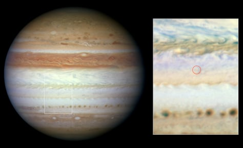 Image: Flash aftermath on Jupiter