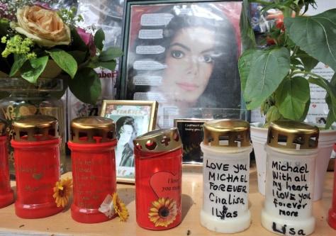 Image: Michael Jackson memorial