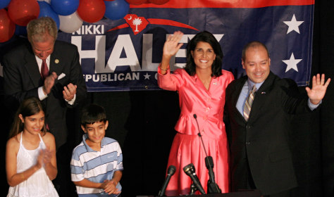Image: Nikki Haley and family