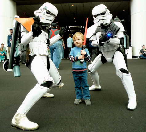 "Image: Young ""Star Wars"" fan"