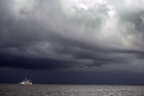 Image: Dark clouds over Gulf