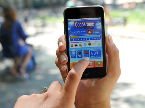 Image: Coppertone MyUV Alert iPhone app