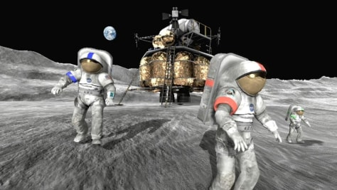 Image: Screenshot of Moonbase Alpha game