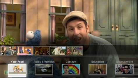 Image: YouTube screen with Adam Sandler and Cookie Monster