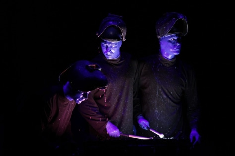 Image: Blue Man Group on the Norwegian Epic cruise ship