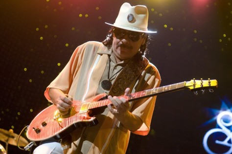 Image: Santana performs in Tinley Park Ill.
