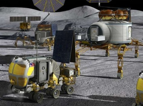 Image: Illustration of a moon base concept